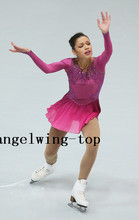 Red Figure Skating Clothing For Women Competition Ice Skating Clothing Custom Clothes for Figure Skating Free Shipping