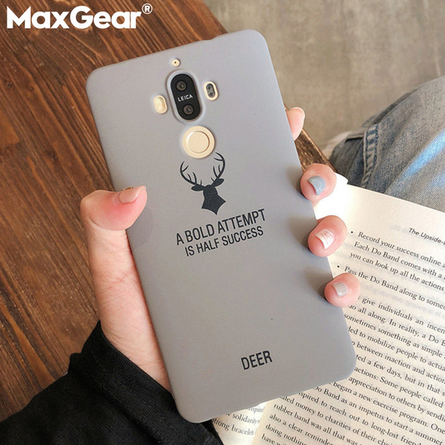 Frosted Matte Silicone Phone Case On for Huawei P8 P9 P10 Plus P20 Mate 8 9 10 20 Lite Pro Housing Soft Slim Elk Back Cover Capa