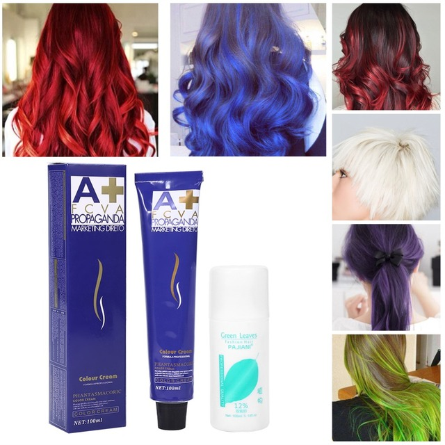 US $9.36 25% OFF|100ml Hair Dye Cream Dye Mud Hair Color Wax Hairstyle  Styling Hair Pomades Cosplay DIY Hair Coloring with Double Oxygen Milk-in  Hair ...