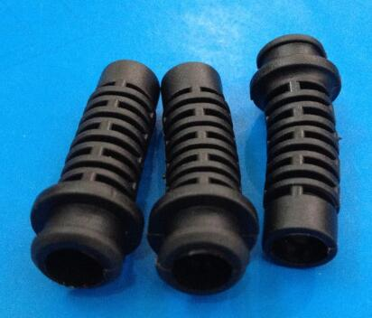 20pcs 34x6.5 Length 34mm bore 6.5mm Rubber Square Strain Relief Cord Boot Protector Cable Sleeve Power cord bushing