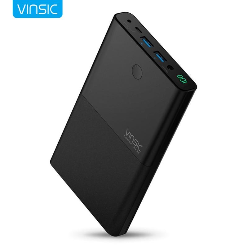 VINSIC VSPB401 Power Bank <font><b>30000</b></font> mAh High-end Imported Lithium Eexternal <font><b>Battery</b></font> Pack Power Supply For iphone Huawei xiaomi PC