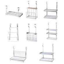Stainless Steel Kitchen Organizer Multifunction Dish Drying Rack Wall Hanging Storage Holder Tableware Shelf Drainer 8 Types