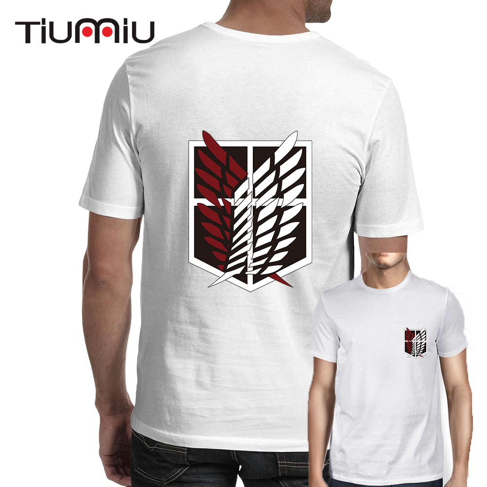 Men's Anime Attack on Titan Design Print T-shirts Shingeki No Kyojin Cosplay T Shirt Creative Hipster Streetwear Modal Comfy Tee