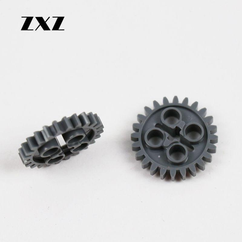 100PCS High Quality Technic Building Blocks Technic Gear 24 Tooth z24 3648 MOC Technic Parts for Boys