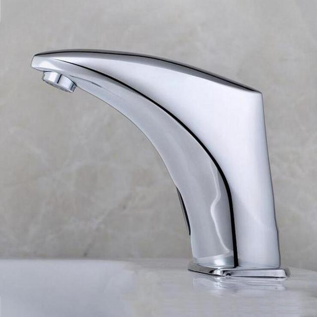 Koper automatische water sense kraan water tap badkamer enkele koude wastafel gevoel kraan wc - Vormgeving van de badkamer kraan ...