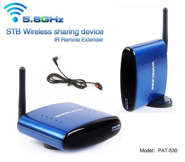 HBUDS 5.8GHz 200m Wireless AV Sender TV Audio Video Transmitter Receiver IR Remote PAT-530 800mw video transmitter av audio