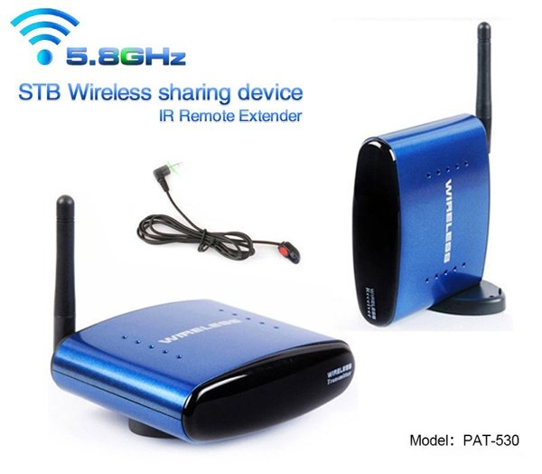 HBUDS 5.8GHz 200m Wireless AV Sender TV Audio Video Transmitter Receiver IR Remote PAT-535HBUDS 5.8GHz 200m Wireless AV Sender TV Audio Video Transmitter Receiver IR Remote PAT-535