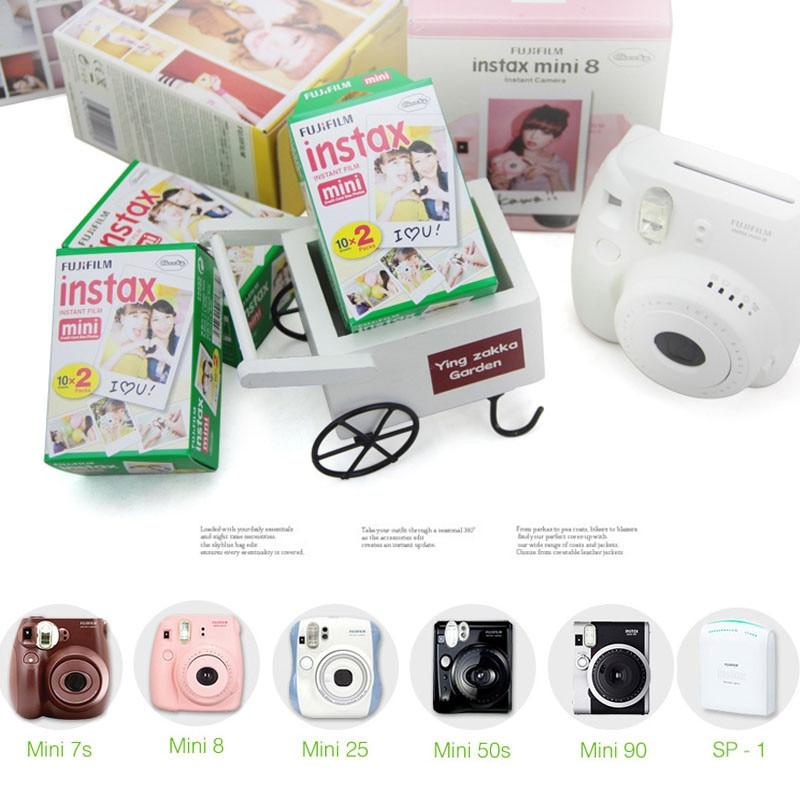 100 feuilles Fujifilm Instax Mini film pour appareil Photo instantané Mini 8 7 s 25 50 s 90 bord blanc 3 pouces Film Photo papier - 5
