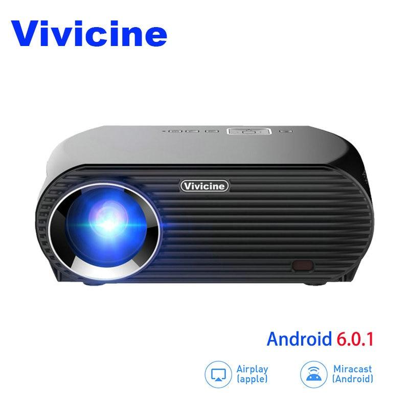 Vivicne Portable HD Projecteur, En Option Android Bluetooth, 3500 Lumens, parfait Beamer Proyector pour La Maison Théatre et Jeux Vidéo