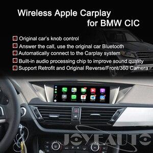 Image 4 - Joyeauto اللاسلكية أبل Carplay ل BMW CIC 6.5 8.8 10.25 بوصة 1 3 5 6 7 سلسلة X1 X3 X5 X6 Z4 2009 2013 الروبوت السيارات سيارة اللعب