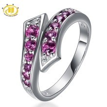 Hutang Rings for Women Silver 925 Jewelry Steampunk Natural Rhodolite Garnet Gemstone Ring Fine Jewellery New Anillos Mujer