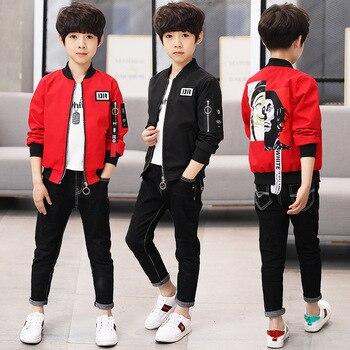 2018 New Cartoon Boys Jacket Coat Spring Kids Outerwear Children Coat School Sport Clothing Kids Bomber Jacket for Boys Clothing