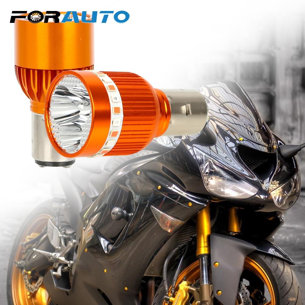 Motorcycles Headlight Strobe Fog Light LED Driving Light Moto Head Lamp Built-in Motorbike Spotlight 12-80V Super Bright