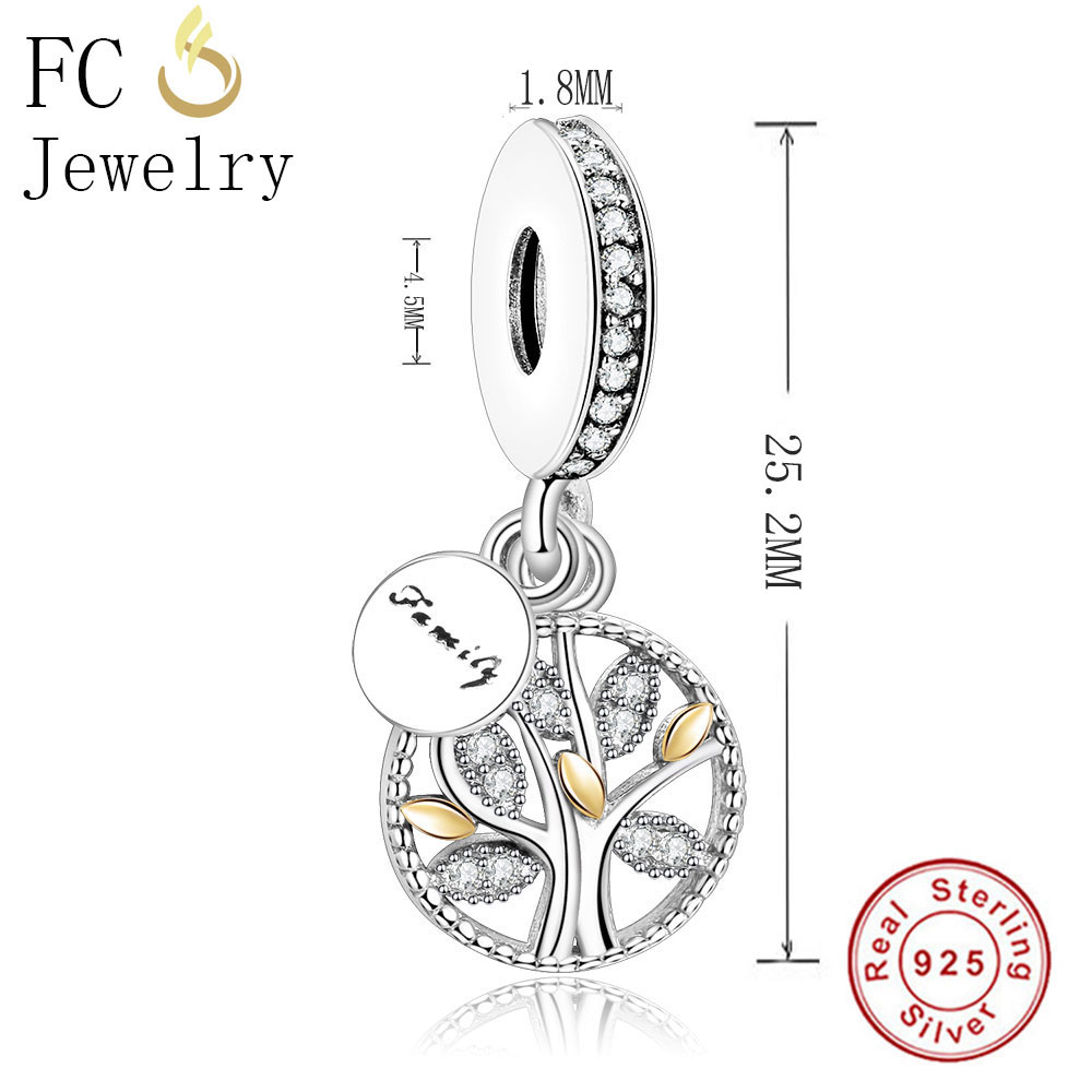 28992698e Fit Original Pandora Charms Bracelet Tree of Life Family Charm Genuine 925  Sterling Silver Bead Family DIY Making Jewel Berloque-in Beads from Jewelry  ...