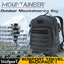WOSPORT Outdoor Travel Bag 3P MOLLE Tactical Backpack Airsoft Hunting Sports Climbing Camping Cycling Hiking Assault