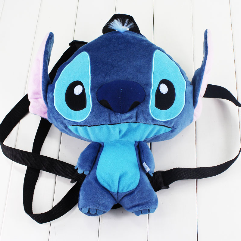 30cm Lilo & Stitch Plush Backpack Kawaii Stitch Stuffed Bag Shoulder Coin Purse for Girls 30cm stuffed