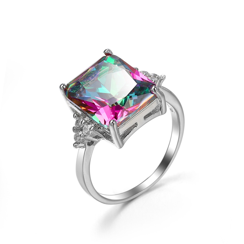 2020 Summer New Fine Jewelry Jewelry Colorful Zircon Rings Female Crystal From Austrian Women Ring Fit Party