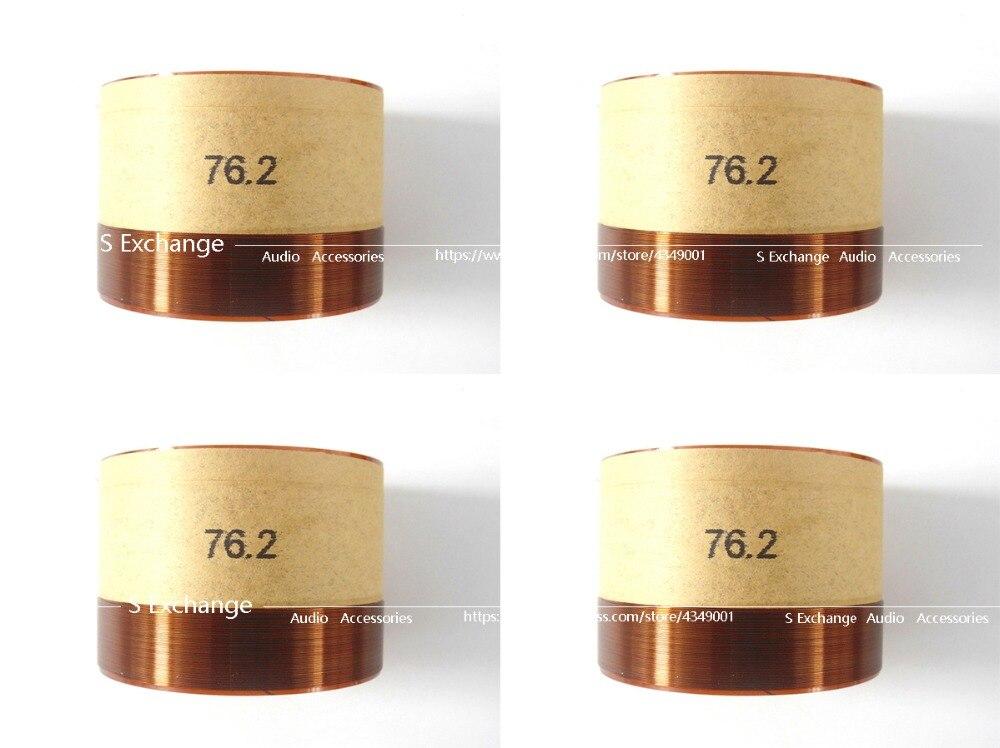 4pcs lots 76 2 Core Bass Voice Coil 76 2mm Subwoofer 8OHM Speaker Accessories DIY