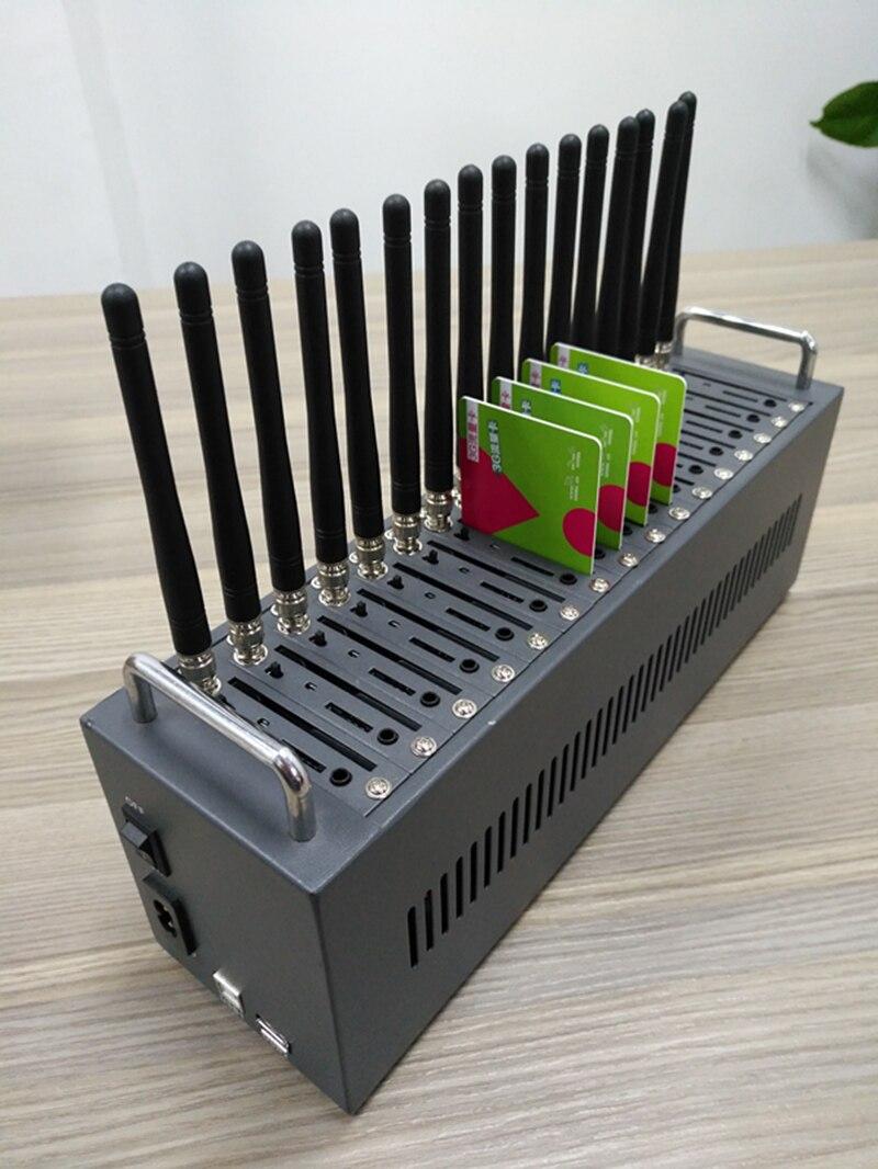 Heißer verkauf 16 ports usb gsm modem pool MTK unterstützung IMEI änderung und sms-versand/receving massen-sms-gerät