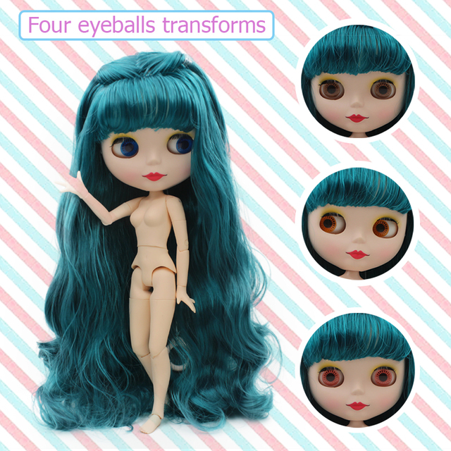 Nude Doll Similar To Blyth BJD doll, Customized Polish Dolls Can Change Makeup and Dress by DIY, 12 Inch Ball Jointed Dolls 0 1