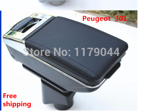 car central armrest console box,2014 special section (used for Peugeot  301) car armrest box cover for audi