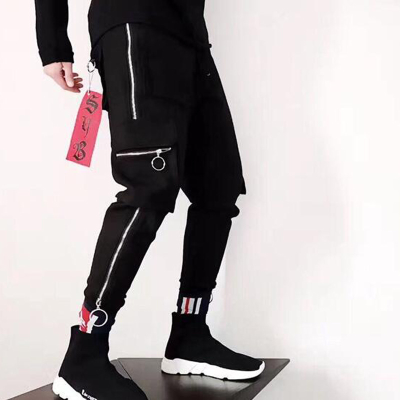 Дропшиппинг Новинка 2018 года хлопок полной длины брюки уличная для мужчин треники