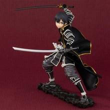 купить 17cm Anime SAO Sword Art Online Kirigaya Kazuto Kirito PVC Collectible Figure Models Toys for Children Gifts дешево