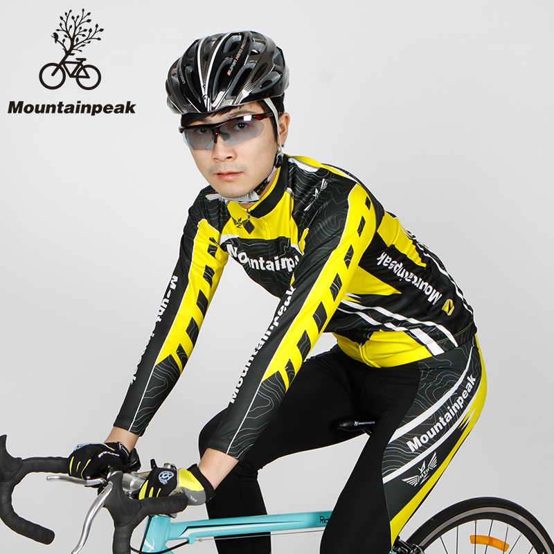 Mountainpeak Men Cycling Jerseys Set Fitness Tights Long Sleeve Coats Outdoors Clothing Bike Riding Sports Clothes 2017 Skinsuit ckahsbi winter long sleeve men uv protect cycling jerseys suit mountain bike quick dry breathable riding pants new clothing sets