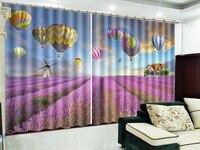 Große Stücke Von Blumen Und Schöne Heiße Luft Luftballons Zarte Vorhänge  Wohnzimmer Schlafzimmer Schöne Praktische Blackout Curta