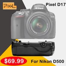 Grip píxel vertax d17 meike empuñadura con batería para nikon d500 cámara dslr vs mk-dr500 mk-d500 como mb-d17