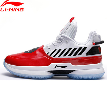 Li-Ning Мужская баскетбольная обувь WOW 7 OVERTOWN wow7 подкладка подушки li ning wayofwade 7 CLOUD BOUNSE + спортивная обувь ABAN079 XYL212