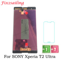 6.0'' Tested LCD Display For SONY Xperia T2 Ultra LCD Display Touch Screen D5322 D5303 D5306 XM50h Digitizer with Frame