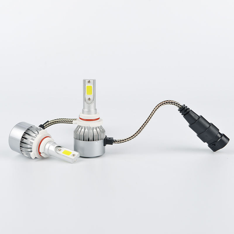 2PCS Car COB Led Headlight Kits Low Beam & High Beam COB Auto Headlamps SUV Fog Lamps lights 12V 6000K H7 H11 H13 9006 H4