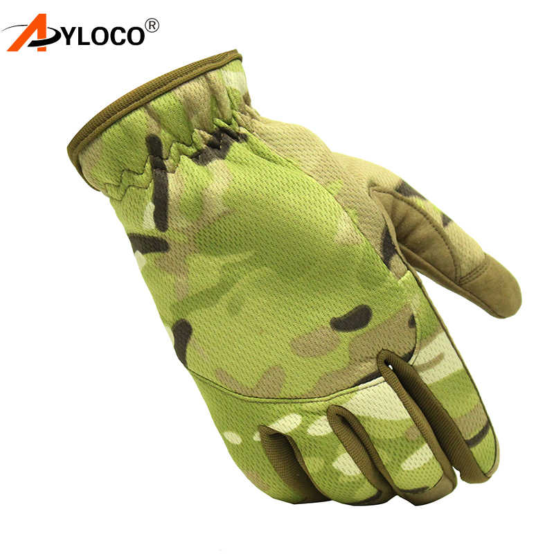 Tactical Gloves Antiskid Army Military Bicycle Airsoft Motocycel Shoot Paintball Work Gear Multicam Camo Full Finger Gloves Men