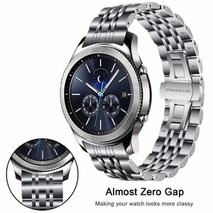 Image 2 - 316L Stainless Steel Watchband + Metal Clip for Samsung Galaxy Watch 46mm SM R800 Gear S3 Replacement Band Wrist Strap Wristband