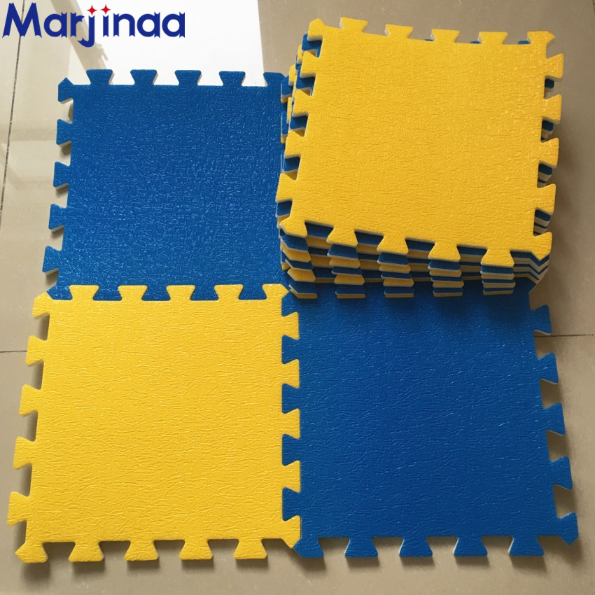 New 10 Sqft Yellows Amp Blue Foam Mats Exercise Gym Puzzle