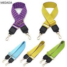 MEDADA 2019 New Kind of Belt Bag Replacement Girl Bag Belt Accessories with Single Shoulder Slope Wide Shoulder Belt Pure Color ring linked belt with bag