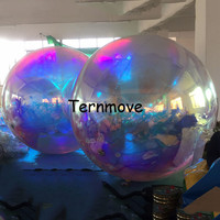 inflatable mirror ball for hang, advertising ceiling hanging inflatable reflective balloon balls wedding Decoration