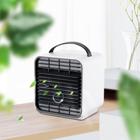 New Mini Negative Ion LED Night Lamp Fan Air Conditioner Portable Handheld Desk Fans Cooler Air Humidifier