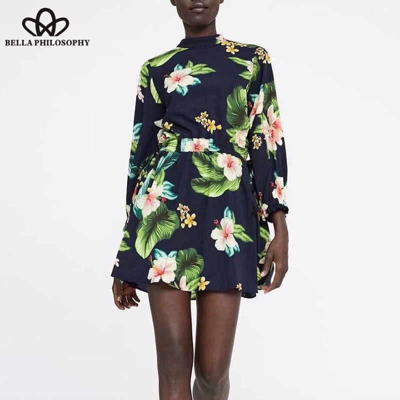 bd71c1d0388d4 JuneLove Women Spring Long Sleeve Loose Playsuits Vintage Print ...