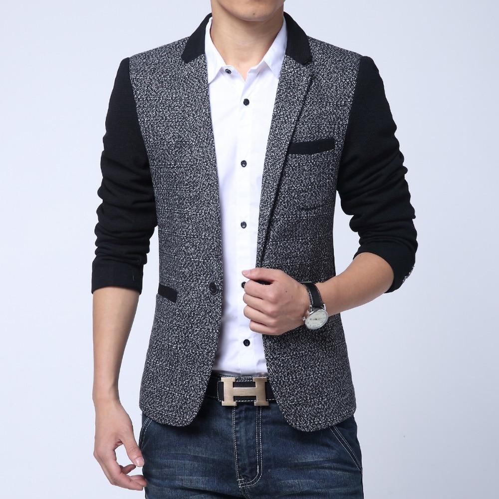 2017 Neue Männer Koreanische Beiläufige Dünne Anzug Flut Nähte Herren Business Casual Kleinen Anzug Mode Dünne Mantel