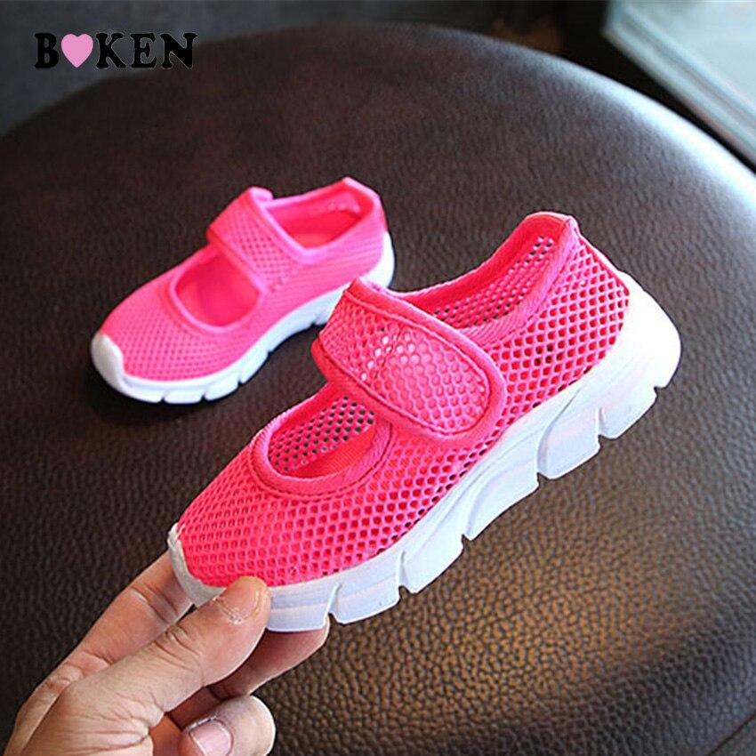 BOKEN niños zapatos de malla transpirable moda de verano dulces 6 - Zapatos de niños