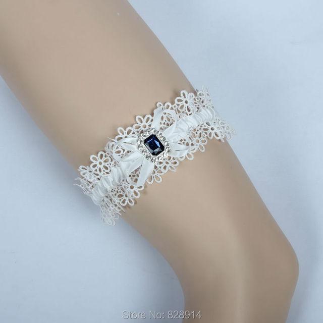 Navy Blue Crystal Stone Lace Bridal Garter for Wedding Handmade Garter Belt  Sexy Vintage Bridal garter 19140e1f86c4