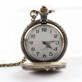 Vintage Antique Carving Motorcycle Steampunk Quartz Pocket Watch Retro Bronze Women Men Necklace Pendant Clock with Chain Toy vintage carving rose quartz pocket watch exquisite in full bloom hollow necklace chain women accessory lady bronze clock gift