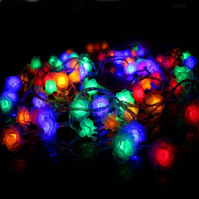 Weihnachtsbeleuchtung Led Batterie.Us 17 44 9 Off 5 Mt Batterie Weihnachtsbeleuchtung Led Rose Lichterketten Girlande Neujahr Urlaub Luminaria Dekoration Lampen Hochzeit Beleuchtung
