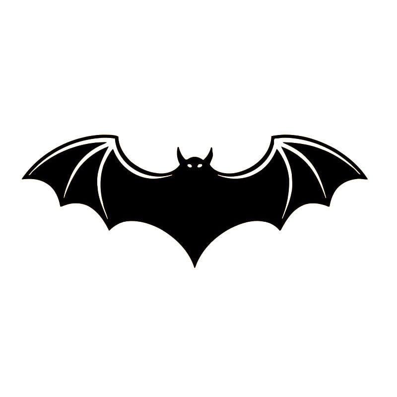 15.6*6CM Bat Pattern Vivid Decorative Car Stickers Vinyl Reflective Car Body Decal Black/Silver S1-2177