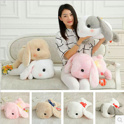 1 pcs 48cm New Cute Japan Amuse  Kawaii Long Ear papa Lop Rabbit big headDoll Plush Toys PP Cotton Girls Gift