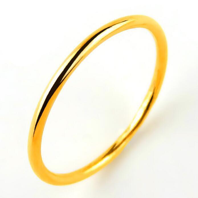 Authentique bague en or jaune 24 K petite bague pour femme