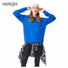Women Fleece Hooded Sweatshirt Harajuku Fashionable Solid Color Pullover Hoodies Womens with Hood Autumn Winter Men Clothing(China)