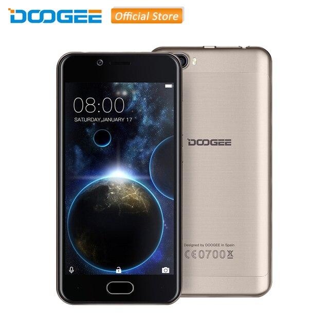 Оригинал DOOGEE Shoot 2 Android 7.0 MTK6580A Quad Core 5.0 дюймов ОЗУ 1 ГБ ПЗУ 8 ГБ 3 Камеры 3 Г WCDMA 3360 мАч 2 SIM смартфон
